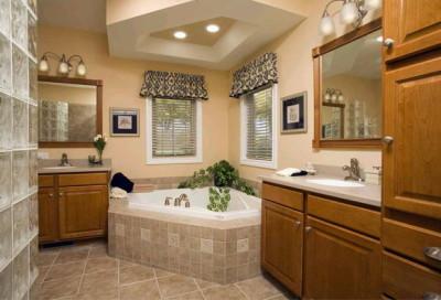 Потолочные светильники в ванной комнате