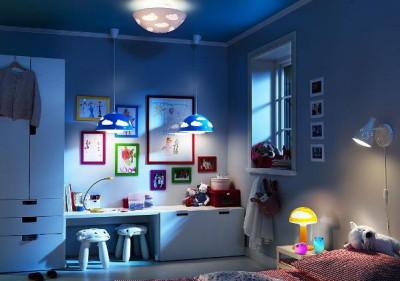 Освещение комнаты для детей