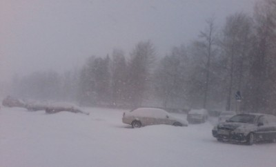 Майский снегопад