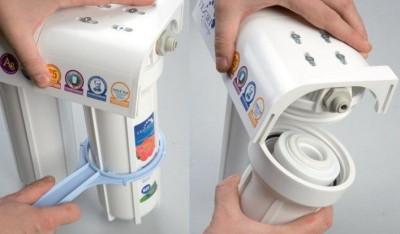 Замена фильтра тонкой очистки воды