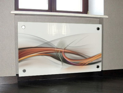 Стеклянный экран для радиатора