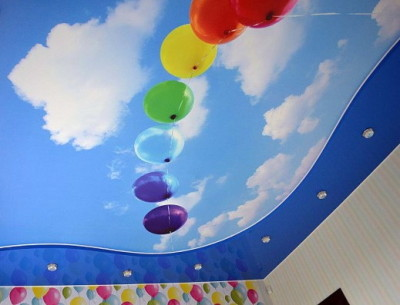 натяжные потолки с фотопечатью для детской комнаты