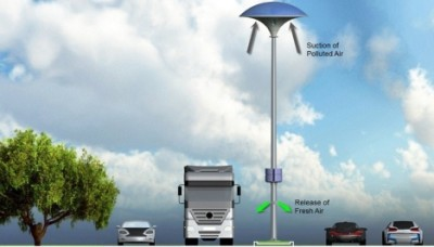 Концептуальный фонарь Eco-Mushroom