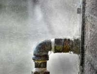 прорвало водопроводную трубу