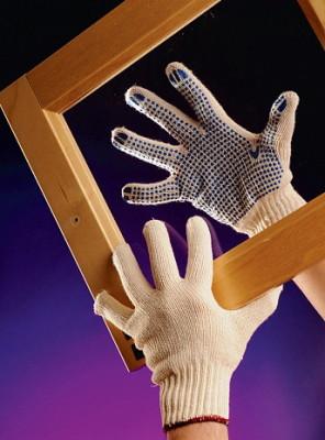 Трикотажные перчатки с полимерным покрытием