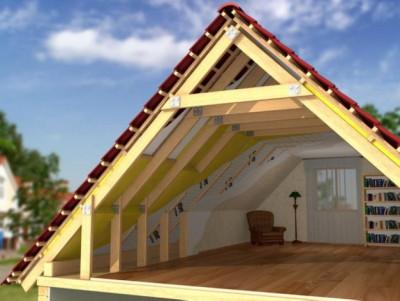 Монтаж крыши каркасного дома