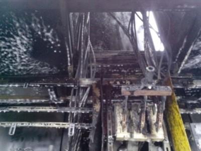 Выгоревшее электрооборудование