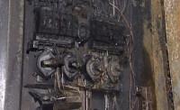 Сгоревший электросчетчик