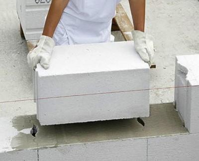 Укладка газосиликатных блоков