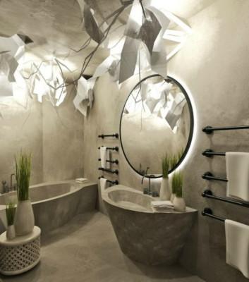 Этно-светильники в ванной