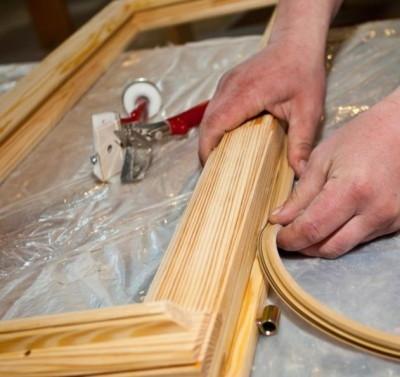 Ремонт или обновление деревянным рамам