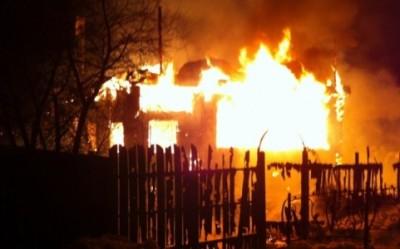 Сгорел дом под Владимиром