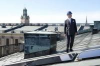 Солнечные батареии на крыше Стокгольмского дворца