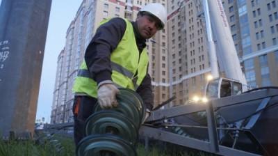 Демонтаж опор на Западе Москвы