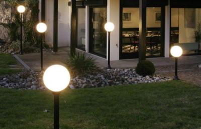 светильники шары для сада