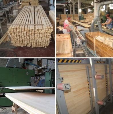 Процесс производства мебельных щитов